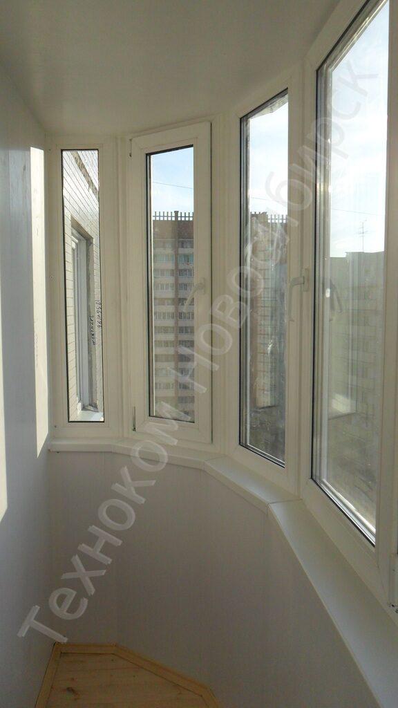 Остекление балкона пластиком(двухкамерный ст\\пакет) с утепле.