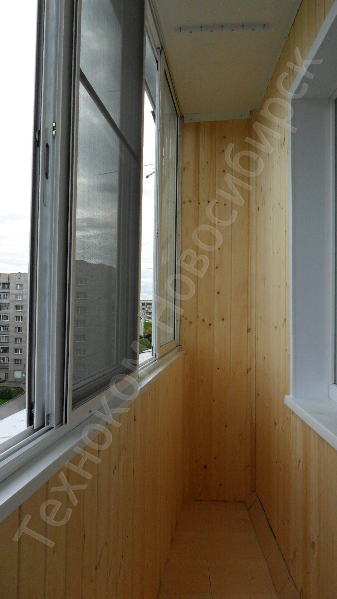 Балкон обшитый вагонкой остекление балкона пвх г. новосибирс.